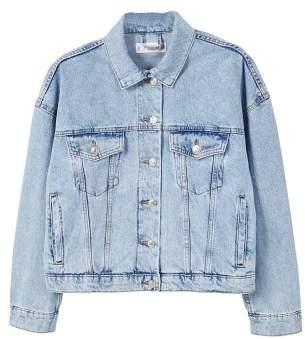 MANGO Crop denim jacket