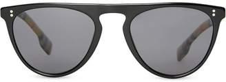 Burberry Vintage Check Detail Keyhole D-shaped Sunglasses d50dd2256e8