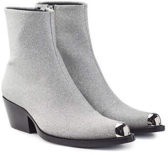 Calvin Klein Tex Tarrana Diamond Leather Ankle Boots