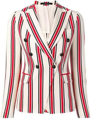 Tagliatore double breasted striped blazer