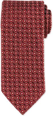 Eton Swirl-Print Silk Tie