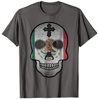 DAY Birger et Mikkelsen Sugar Skull T-Shirt Mexican Flag Of The Dead Tee