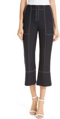 Kenzo Contrast Stitch Crop Flare Pants