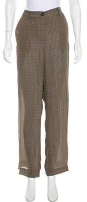 Maison Margiela High-Rise Wide-Leg Pants