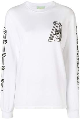 Aries long sleeved graphic printed T-shirt