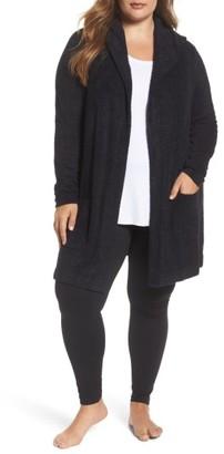 Plus Size Women's Barefoot Dreams Cozychic Lite Coastal Hooded Cardigan $116 thestylecure.com