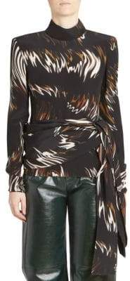 Givenchy Print Silk Sash Top