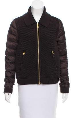 Burberry Knit Paneled Down Jacket