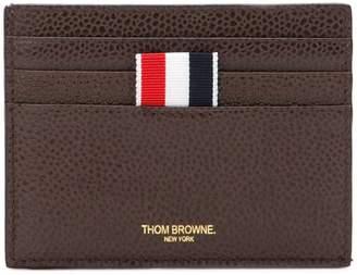 Thom Browne tri-stripe logo tab cardholder