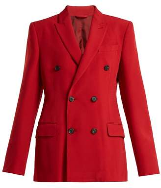 Connolly - Double Breasted Crepe Jacket - Womens - Red