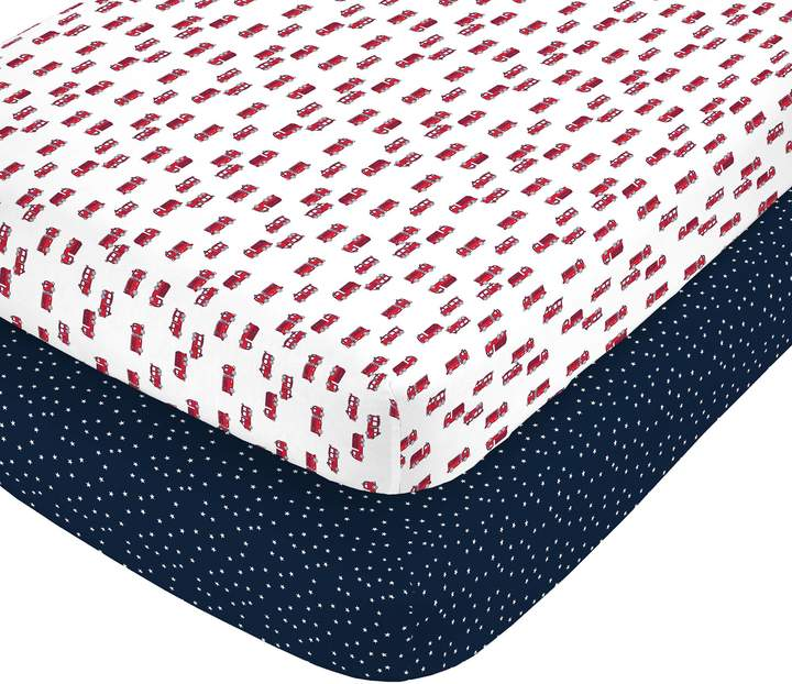 Fire Truck Fitted Crib Sheets
