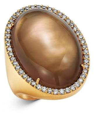 Roberto Coin 18K Rose Gold Smokey Quartz Cocktail Ring with Diamond