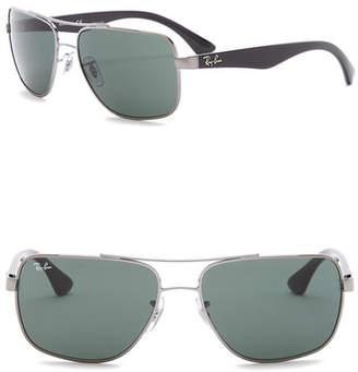 Ray-Ban Men's 60mm Metal Square Sunglasses