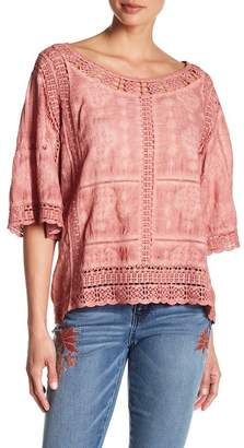 Democracy Kimono Sleeve Crochet Lace Blouse