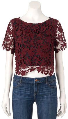 Women's Jennifer Lopez Lace Crop Top $60 thestylecure.com