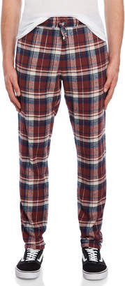 Faith Connexion Burgundy Plaid Flannel Pants