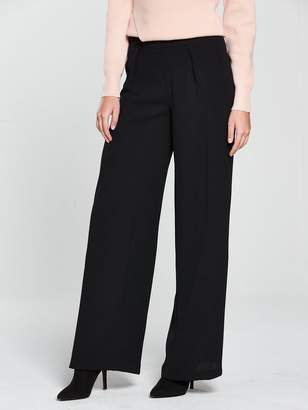 Very Soft Wide Leg Trouser - Black
