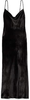 Rebecca Vallance Kara Velvet Midi Dress - Black