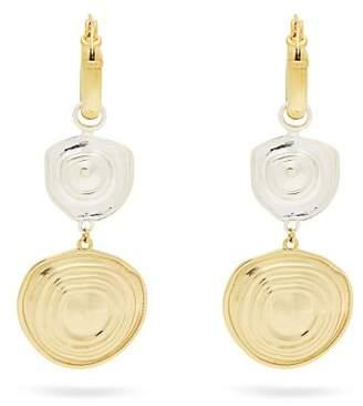 Ellery Aegean Brass Drop Earrings - Womens - Gold