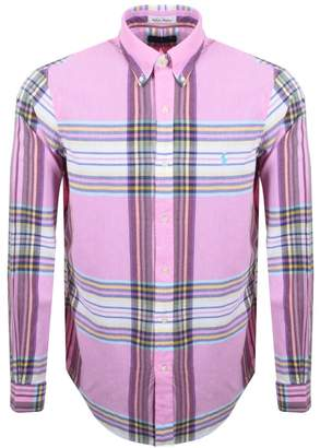Ralph Lauren Checked Madras Sport Shirt Pink