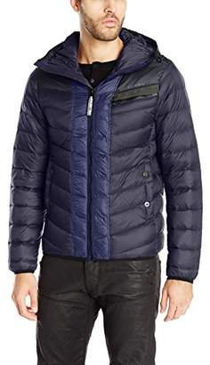 G Star Men's Attacc Hooded Down Jacket