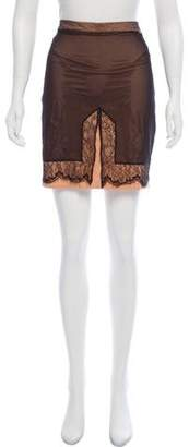 Christian Dior Lace-Trimmed Mini Skirt