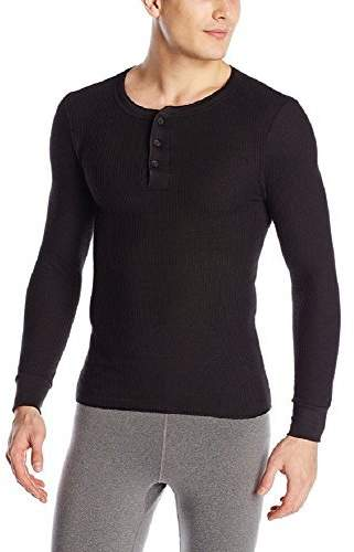 Fruit of the Loom Men's Classics Midweight Waffle Thermal Henley Top