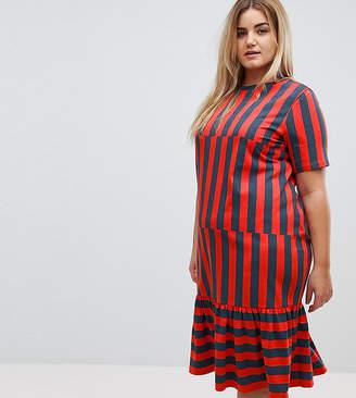 Asos Midi Block Stripe T-Shirt Dress