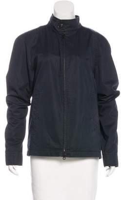Burberry Long Sleeve Zip-Front Jacket