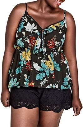 City Chic Tropic Night Tank