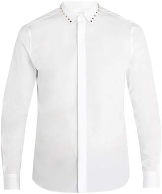 Valentino Rockstud Untitled #5 single-cuff cotton shirt