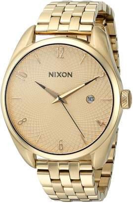 Nixon Women's 'Bullet, All' Quartz Stainless Steel Watch, Color Gold-Toned (Model: A418-502-00)
