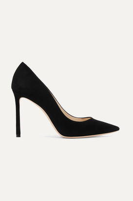 Jimmy Choo Romy 100 Suede Pumps - Black