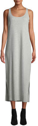 Joan Vass Scoop-Neck Tank Dress with Side Slits, Petite