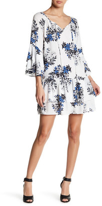 En Creme Printed Bell Sleeve Dress $68 thestylecure.com