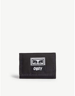 Obey Drop-out tri-fold wallet