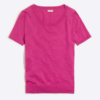 J.Crew Factory Short-sleeve slub cotton sweater