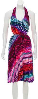 Torn By Ronny Kobo Cutout Halter Dress w/ Tags