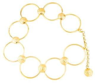 Versace gold-tone ring medusa belt