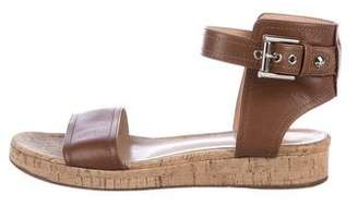 Gianvito Rossi Leather Wedge Sandals