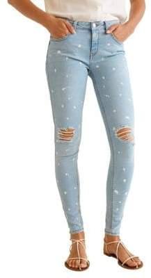MANGO Kim Paint Skinny Jeans