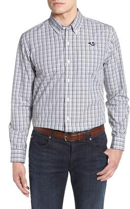 Cutter & Buck Los Angeles Rams - Gilman Regular Fit Plaid Sport Shirt