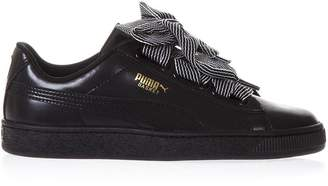 Puma Select Black Basket Heart Wn's Leather Sneakers