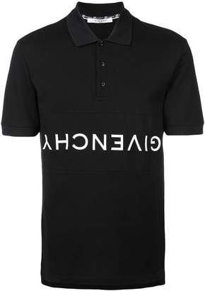 Givenchy reverse logo polo shirt