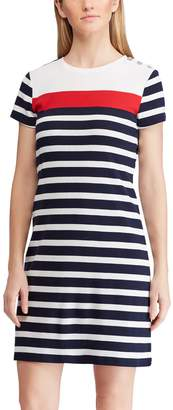 Chaps Women's Striped Sheath Dress