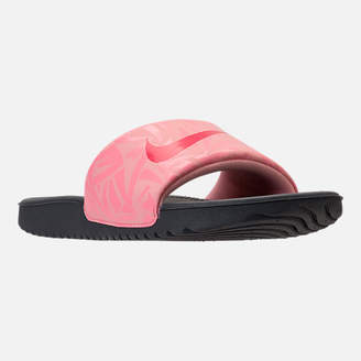 Nike Girls' Grade School Kawa Print Slide Sandals