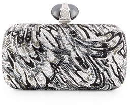 Judith Leiber Couture New Soap Dish Crystal Clutch Bag, Silver Multi $4,495 thestylecure.com