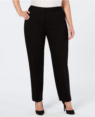 Alfani Plus Size Lace-Trim Hollywood Skinny Pants