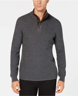 Tasso Elba Men's Mock-Neck Textured Sweater, Created for Macy's