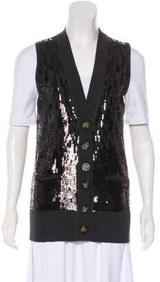 Tory Burch Sequin Wool Vest